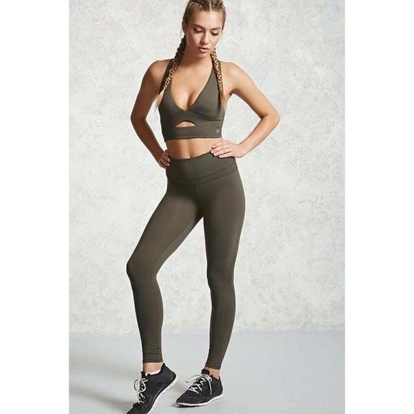 25f3d1c0d11d3 Forever 21 Pants | Olive Green High Waist Legging | Poshmark